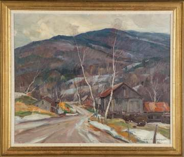 "Emile Albert Gruppe (American, 1896-1978) ""Early Snow Vermont"""