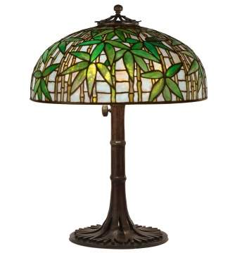"Tiffany Studios, New York, ""Bamboo"" Table Lamp"