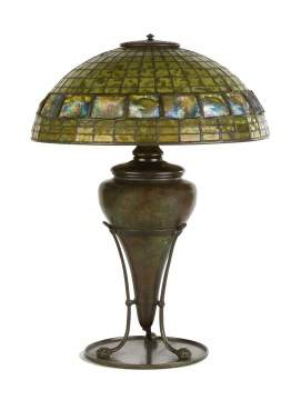 "Tiffany Studios, New York, ""Turtleback"" Table Lamp"