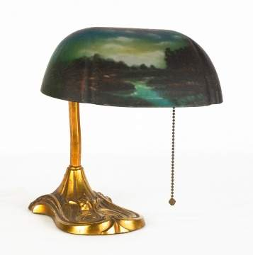 Pittsburgh Reverse Painted Desk Lamp