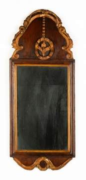 Queen Anne Mahogany and Giltwood Mirror