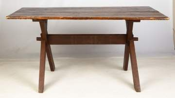 Early Sawbuck Table