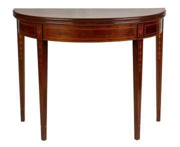 Hepplewhite Inlaid Mahogany Card Table