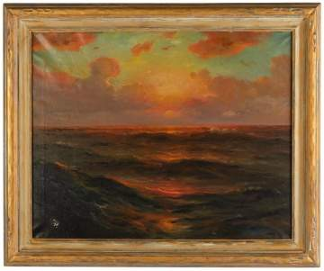 "William Whitney (Late 19th/Early 20th Century) ""Sunset Marine"""