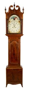 Inlaid Mahogany Tall Case Clock