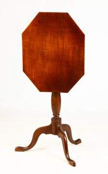 American Tiger Maple Tilt Top Candle Stand