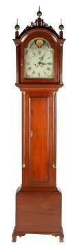 New England Mahogany Tall Case Clock