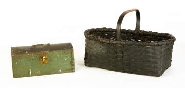 Pine Box and Painted Basket