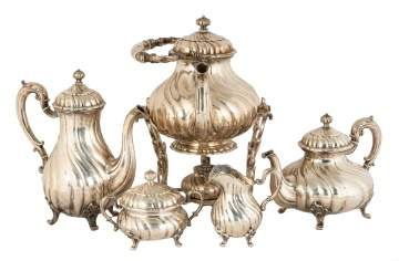 Continental Silver Tea Set