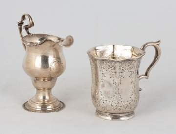 Hyde Goodrich Sterling Silver Cup & E.B. Sterling Silver Creamer