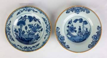 Two Early Delft Hand Painted Plates