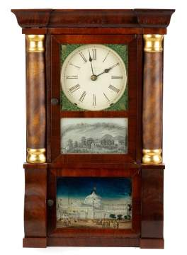 Miniature E.O. Goodwin Column and Cornice Shelf Clock