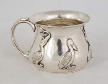 Gorham Sterling Cup With Pelicans