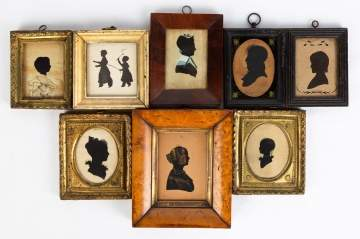 Group Early 19th Century Watercolors and Silhouettes