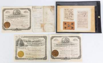 Old West Ephemera and Stock Certificates