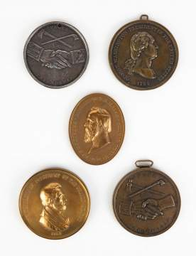 Miscellaneous Native American Peace Medals