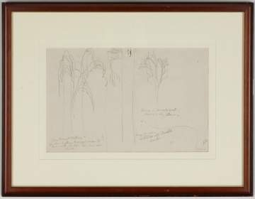 Charles Burchfield (American, 1893-1967) Pencil Drawing