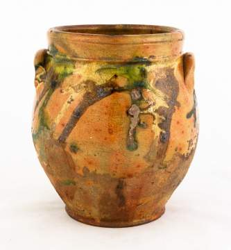 Early 19th Century Redware Pot