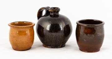 Three Pieces Redware