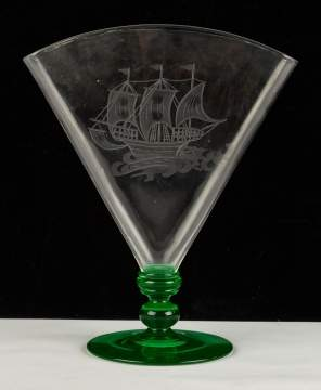 Pomona Glass Fan Vase