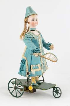 Fine French Clockwork Bisque Automaton