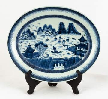 Chinese Export Canton Oval Platter
