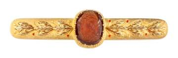 18K Gold Tiffany & Co. Cameo Bar Brooch