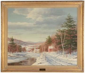 "Carl Wuermer (American, 1900-1981) ""Winter Solitude"""