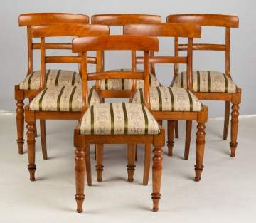 Six Flame Birch Chairs