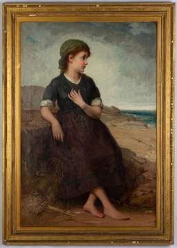 In the Manner of William-Adolphe Bouguereau, Fisher Girl