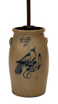 Fort Edward NY 4 Gallon Churn With Bird