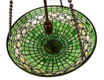 Tiffany Studios Hanging Acorn Lamp With Turtleback