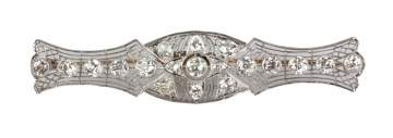 Edwardian Era Platinum & Diamond Brooch