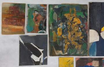 Group of Henry Botkin (American, 1896-1983) Mixed Media Works