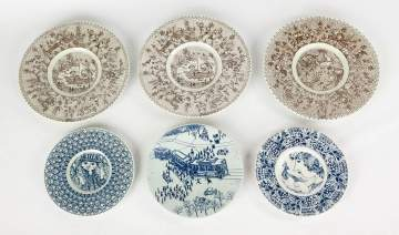 Group of Five Bjorn Wiinblad Decorated Plates
