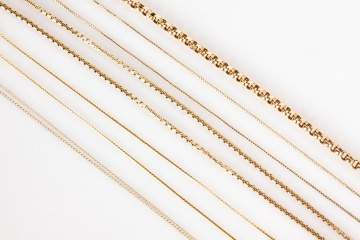 Group of Gold Bracelets and Necklaces