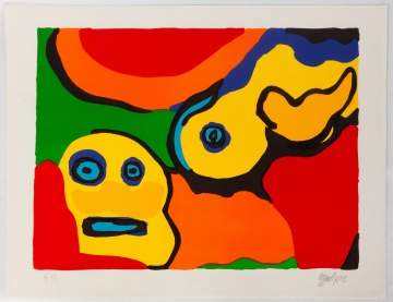 Karel Appel (Dutch, 1921-2006) Yellow Boy and Sun
