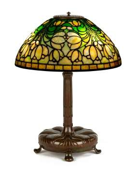"Tiffany Studios, New York, ""Crocus"" Table Lamp"