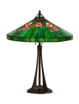 Handel Leaded Floral Lamp