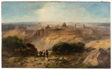 Andrew Melrose (American, 1836-1901) View of Jerusalem