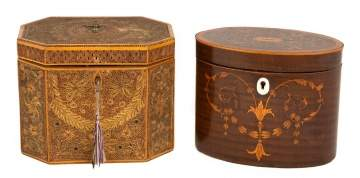 Two George III Tea Caddies
