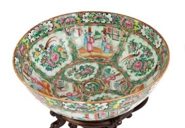 Chines Export Rose Medallion Punch Bowl