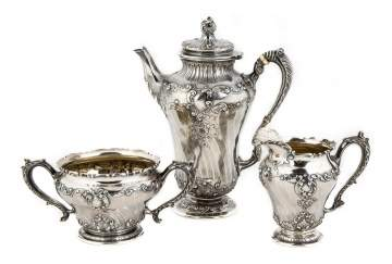 Gorham Sterling Three Piece Tea Set