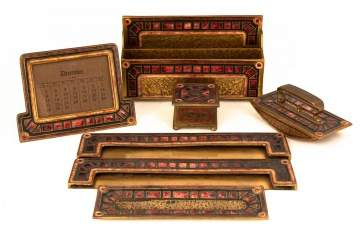 Louis C. Tiffany Furnaces Inc. Art Deco Desk Set