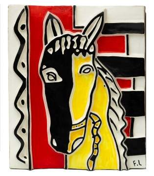 "After Fernand Leger (French, 1881-1955) ""Le Cheval sur fond jaune"""