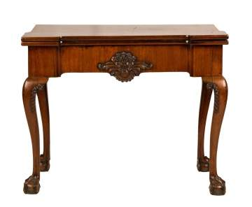 George II Mahogany Game Table