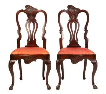 Pair 18th/19th Century Portuguese Side Chairs