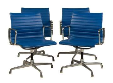 Four Charles and Ray Eames Office Chairs