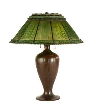 Tiffany Studios, NY, Favrile Fabrique Table Lamp