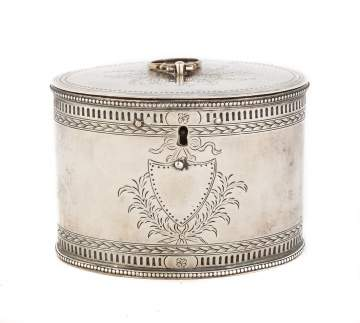 Richard Morton (1779-1780) Silver Tea Caddy